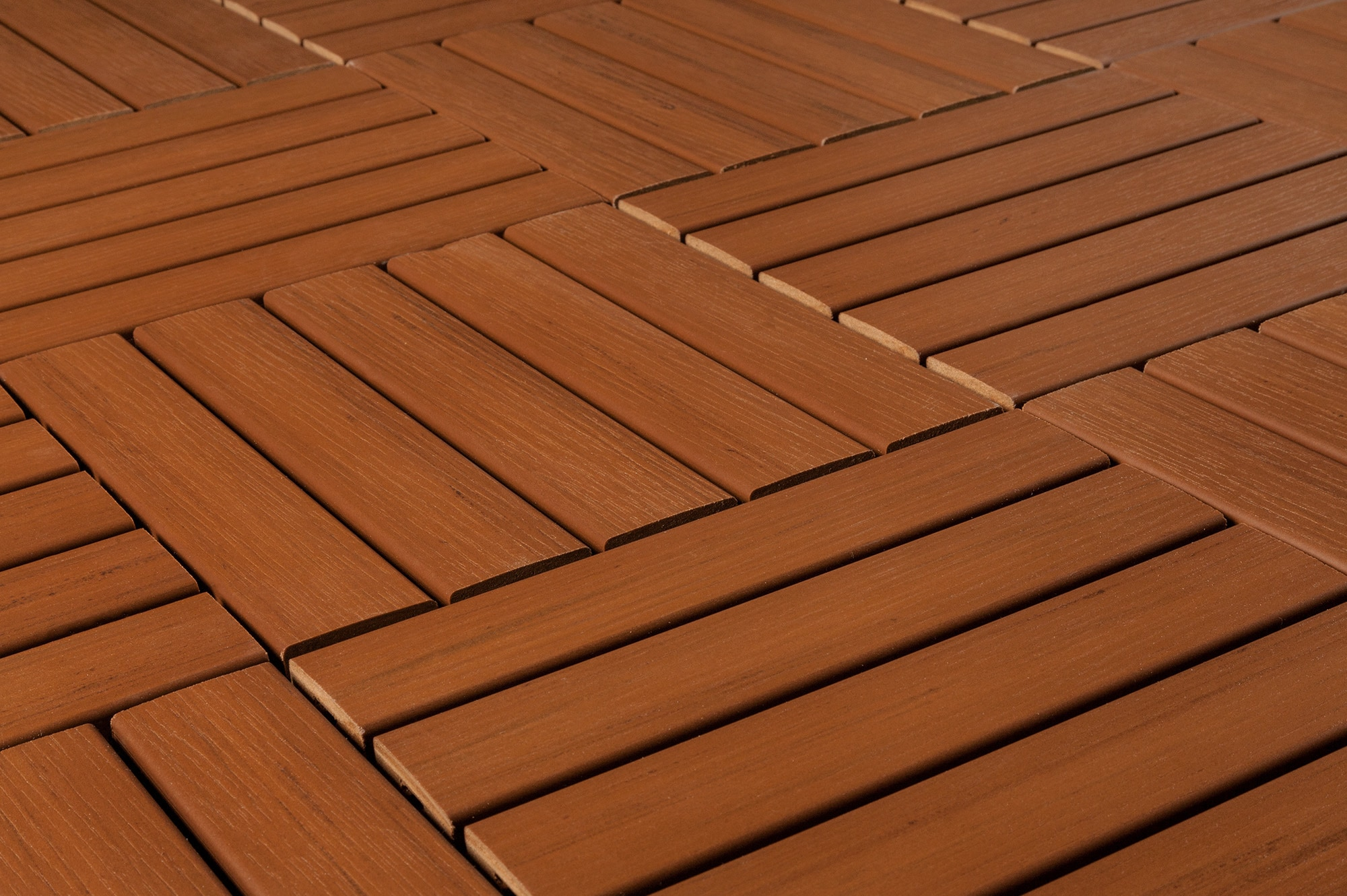 Kontiki Engineered Polymer Interlock Deck Tiles Cedar Angle