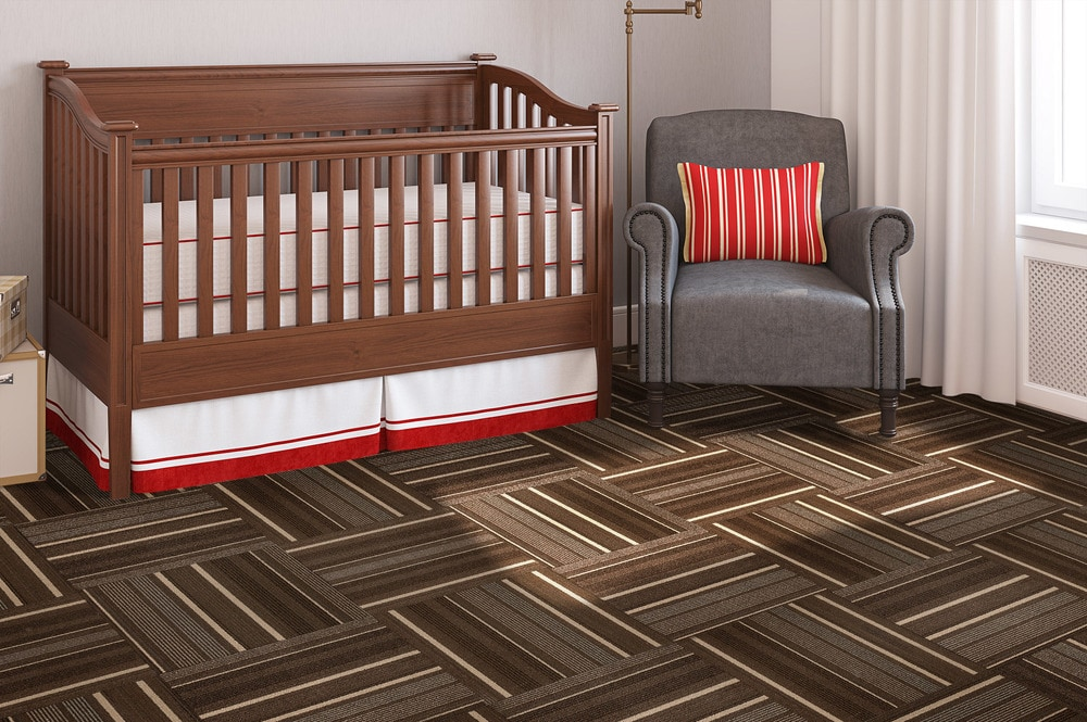 "- Dark Brown Stripe / 19 2/3""x19 2/3"" - sku:10096026"