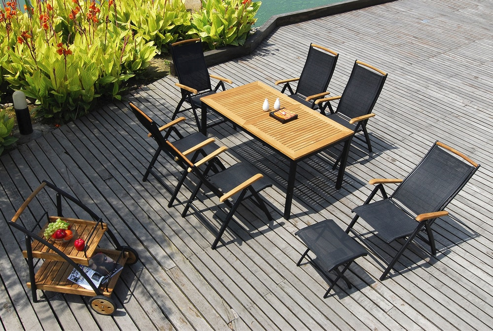 - Jupiter 7 Piece Extendable Teak Dining Set - sku:10099749