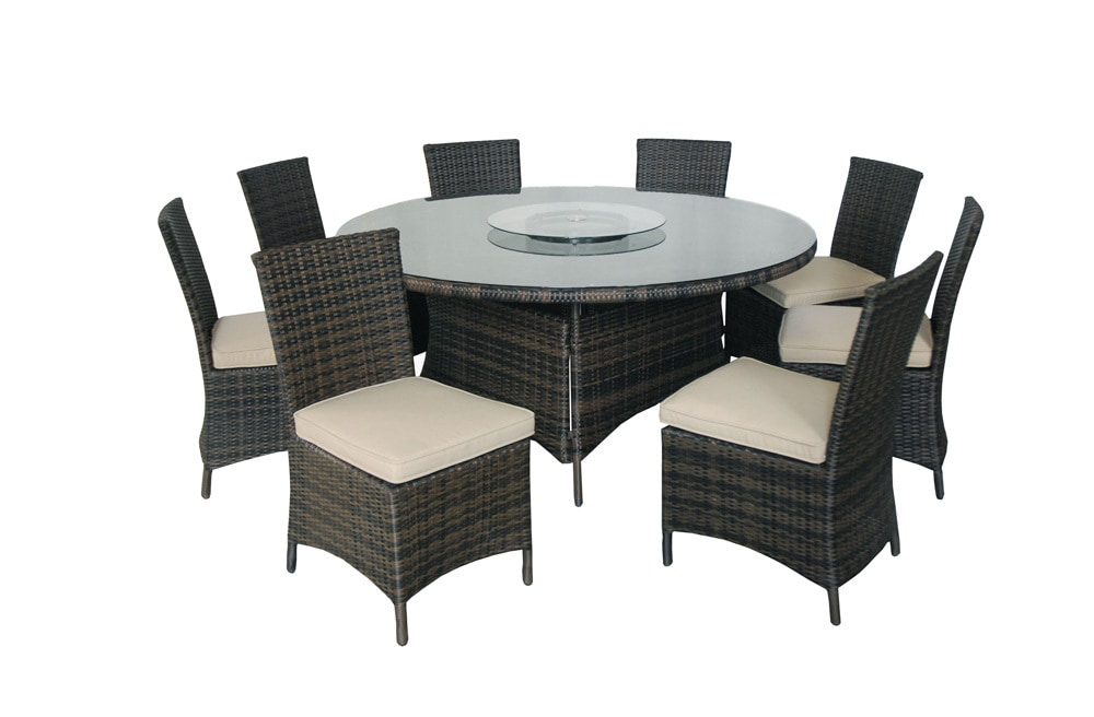 Kontiki dining sets wicker large ideal for 8 or more for Large round dining set