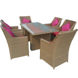 ... Kontiki Patio Furniture Contemporary Series By Kontiki Dining Sets  Wicker Medium Ideal For 6 Seats ...