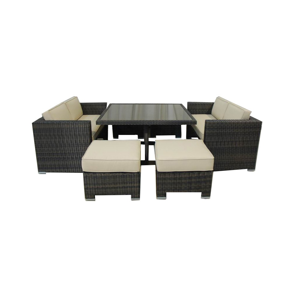 Kontiki dining sets wicker small ideal for 4 seats for Small wicker patio sets