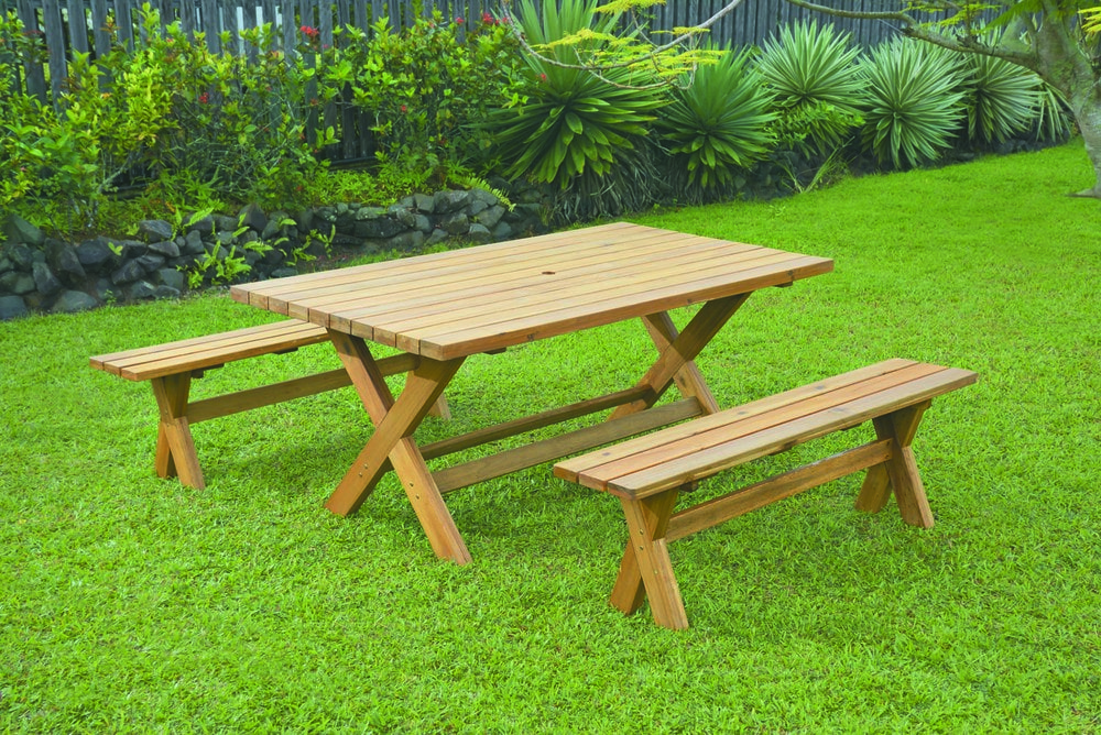 Picnic Table Set : ... Sets - Wooden Picnic Table New York 3 Piece Picnic Table and Bench Set