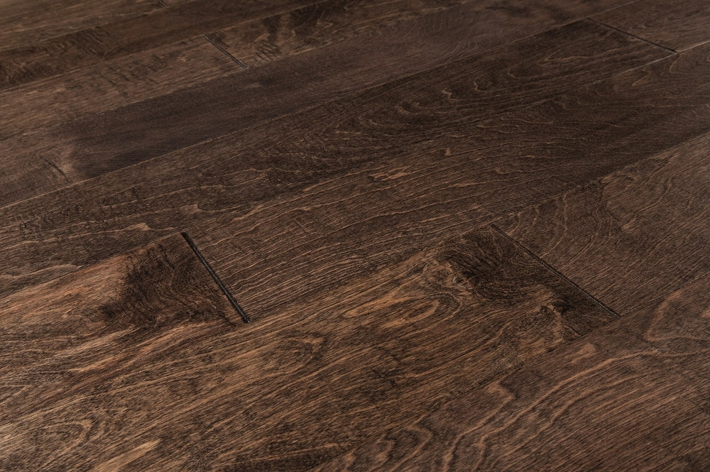 Free samples vanier engineered hardwood birch metallic for Distressed wood flooring