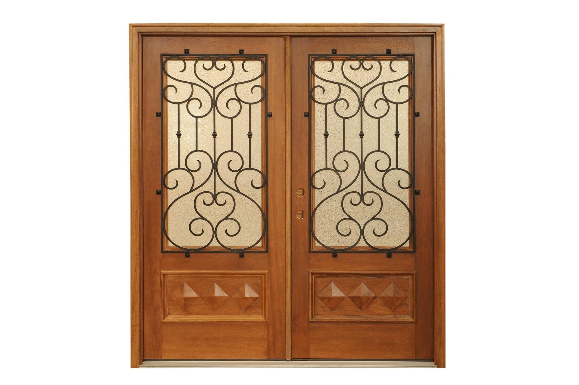 1330 #834620 Home Doors Exterior Doors All Products Sunset / Double Door Mahogany  save image Vintage Exterior Doors 41072000