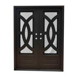 Grafton Exterior Wrought Iron Glass Doors Eclipse Model 101046281 Exterior Doors