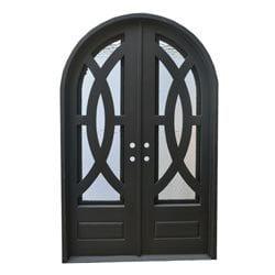 Grafton Exterior Wrought Iron Glass Doors Eclipse Model 101046291 Exterior Doors