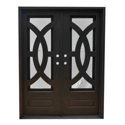 Grafton Exterior Wrought Iron Glass Doors Eclipse Model 101046301 Exterior Doors