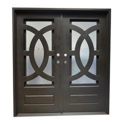 Grafton Exterior Wrought Iron Glass Doors Eclipse Model 101046311 Exterior Doors