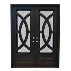 Grafton Exterior Wrought Iron Glass Doors Eclipse Model 101046321 Exterior Doors