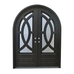 Grafton Exterior Wrought Iron Glass Doors Eclipse Model 101046331 Exterior Doors