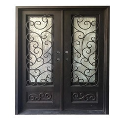 Grafton Exterior Wrought Iron Glass Doors Fern Model 101030031 Exterior Doors
