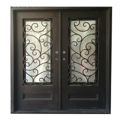 Grafton Exterior Wrought Iron Glass Doors Fern Collection