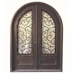 Grafton Exterior Wrought Iron Glass Doors Fern Model 101030081 Exterior Doors