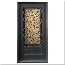 Grafton Exterior Wrought Iron Glass Doors Fern Model 101029991 Exterior Doors