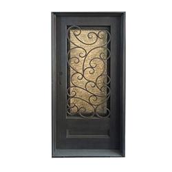 Grafton Exterior Wrought Iron Glass Doors Fern Model 101030021 Exterior Doors