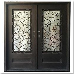 Grafton Exterior Wrought Iron Glass Doors Fern Model 101030041 Exterior Doors