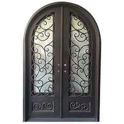 Grafton Exterior Wrought Iron Glass Doors Fern Model 101030071 Exterior Doors