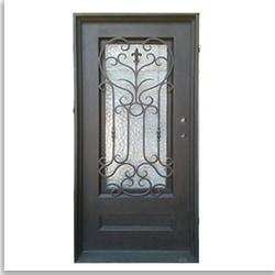Grafton Exterior Wrought Iron Glass Doors Roman Model 101030091 Exterior Doors