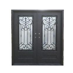 Grafton Exterior Wrought Iron Glass Doors Roman Model 101084381 Exterior Doors