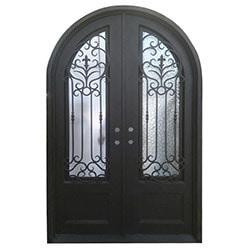 Grafton Exterior Wrought Iron Glass Doors Roman Model 101030171 Exterior Doors