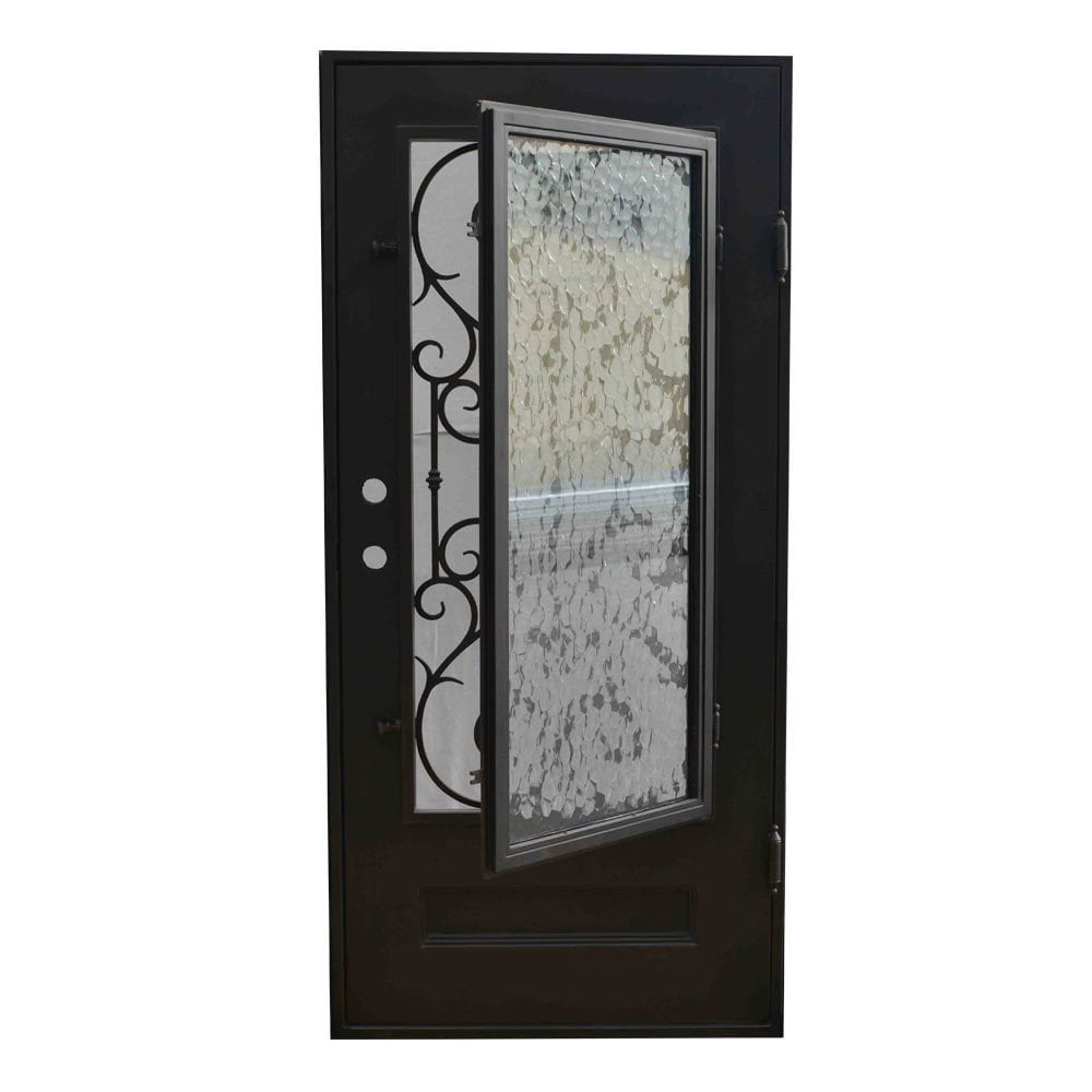 Grafton Exterior Wrought Iron Glass Doors Vine Collection