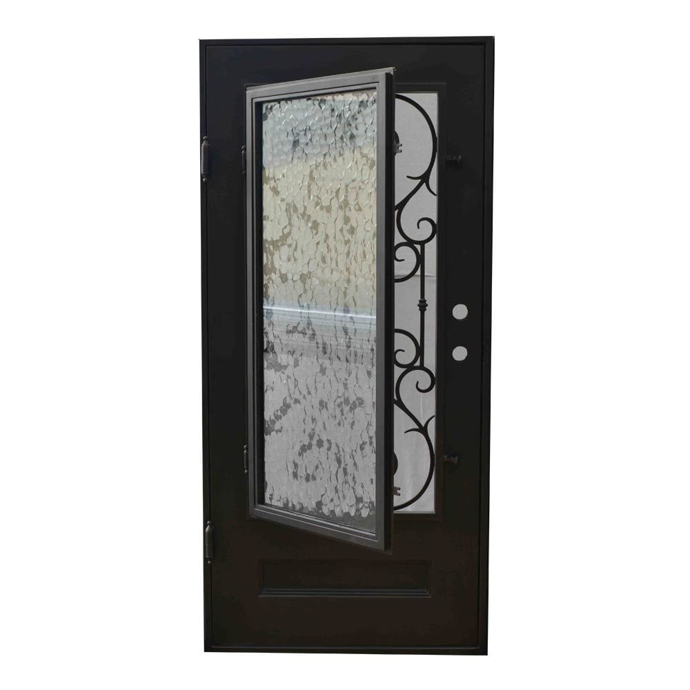 Wrought iron front doors with glass Grafton exterior wrought iron doors