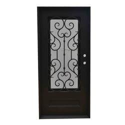 Grafton Exterior Wrought Iron Glass Doors Vine Model 101046441 Exterior Doors