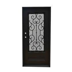 Grafton Exterior Wrought Iron Glass Doors Vine Model 101046451 Exterior Doors
