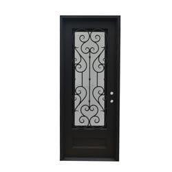 Grafton Exterior Wrought Iron Glass Doors Vine Model 101046461 Exterior Doors