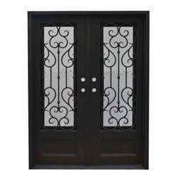 Grafton Exterior Wrought Iron Glass Doors Vine Model 101046481 Exterior Doors
