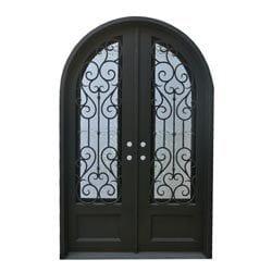 Grafton Exterior Wrought Iron Glass Doors Vine Model 101046491 Exterior Doors