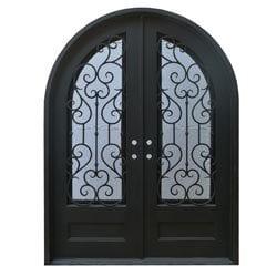 Grafton Exterior Wrought Iron Glass Doors Vine Model 101046531 Exterior Doors