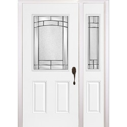 New Concept Exterior Doors - Pre-Hung Steel Element Collection White ...