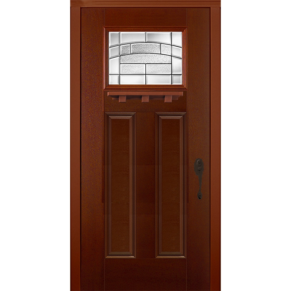 New Concept Exterior Doors Pre Hung Textured Fiberglass Element Fox Tail Pre Finished 80 X36