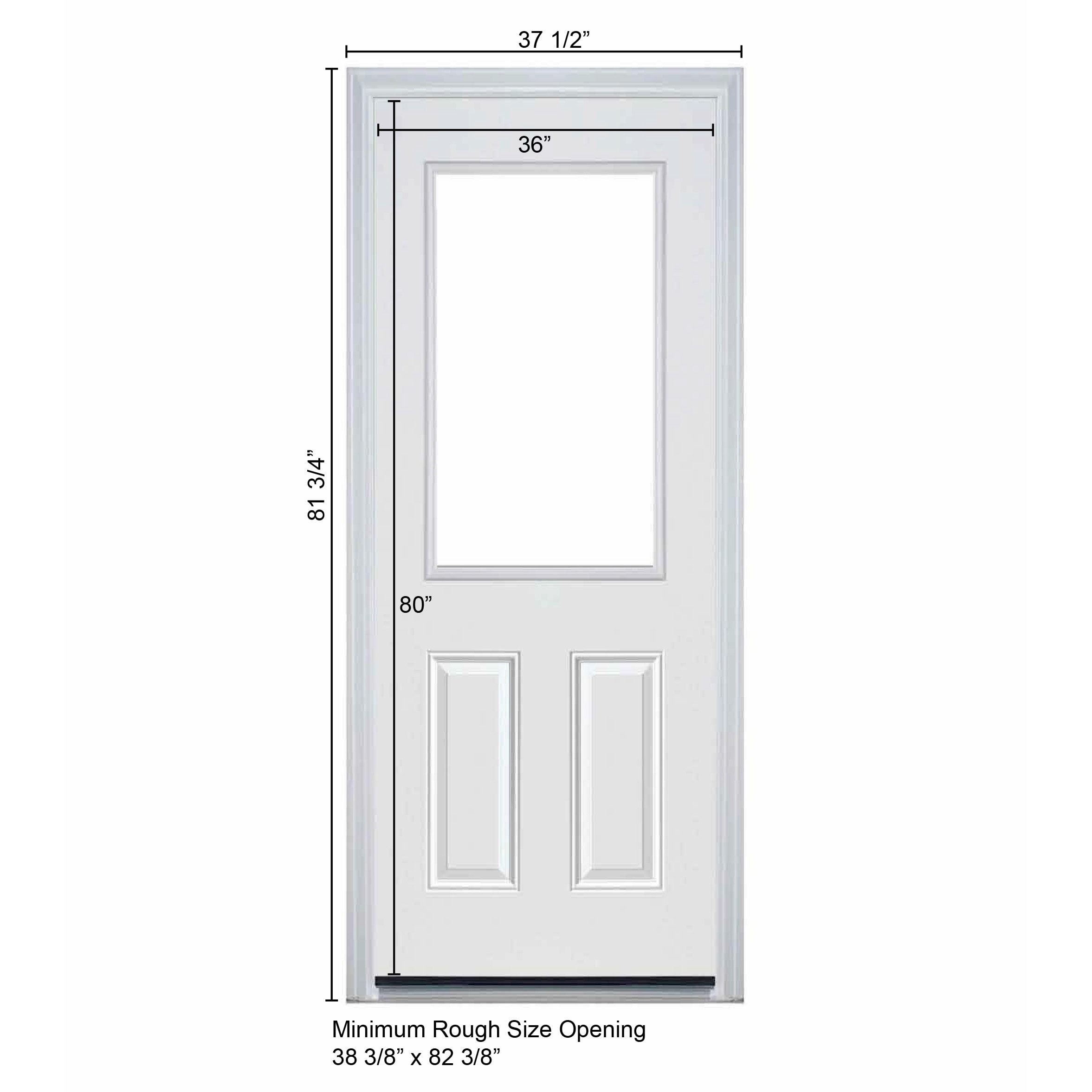 36 Inch Pre Hung Exterior Door Rough Opening   Home Design   Game .