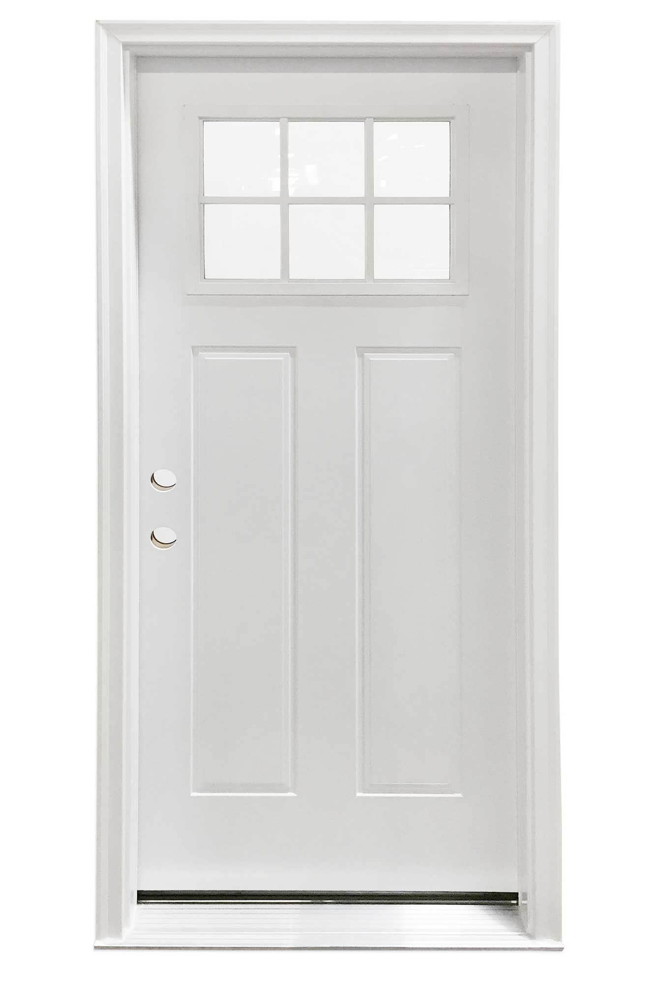 2000 #5D4B40 New Concept Exterior Doors Pre Hung Steel Craftsman Collection White  wallpaper Pre Hung Steel Doors 44751330