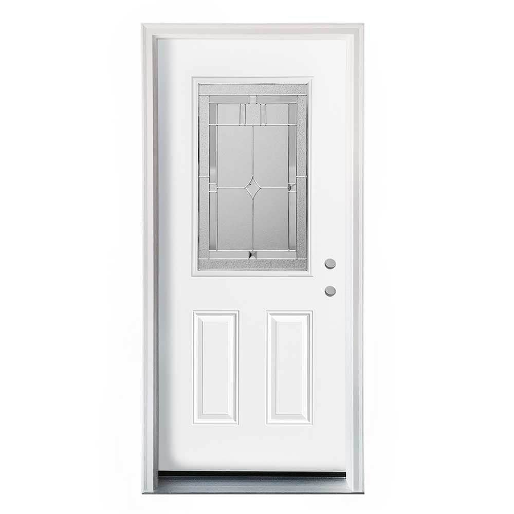 Home Doors Exterior Doors All Products White Pre-Finished / Left Hand ...