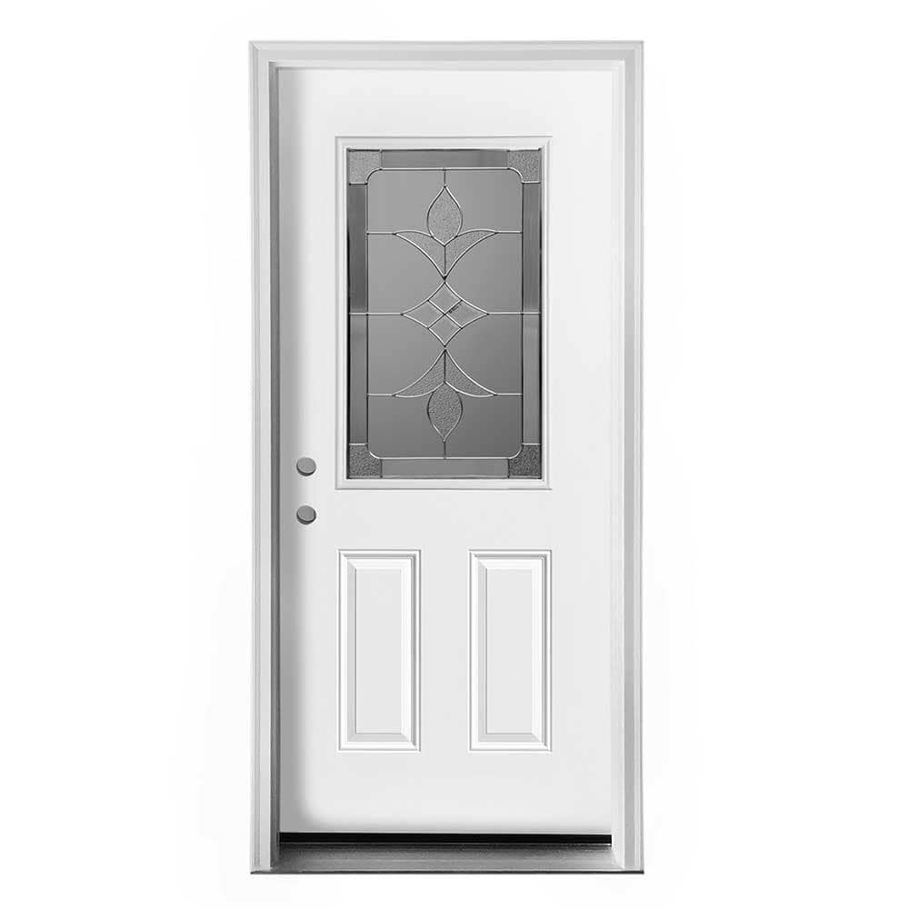 Home Doors Exterior Doors All Products White Pre-Finished / Right Hand ...