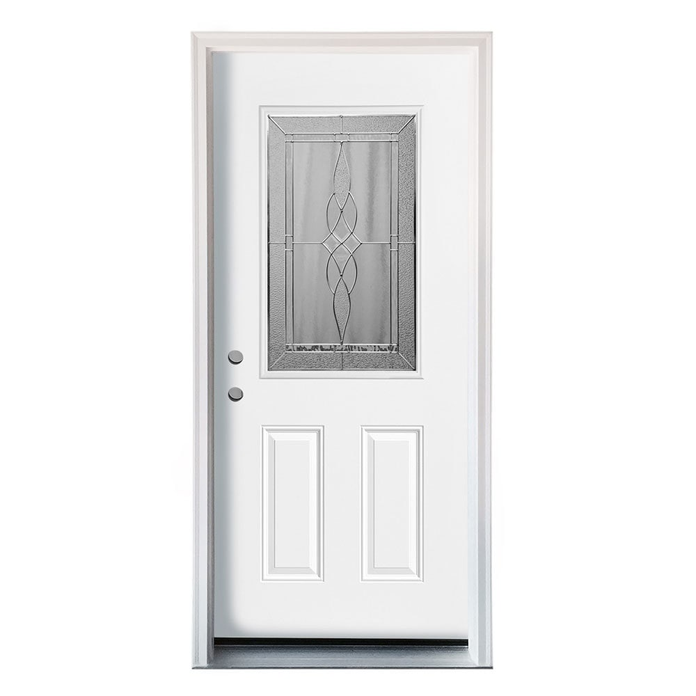 New Concept Exterior Doors Pre Hung Steel Polytex Westin Collection White Pre Finished Right