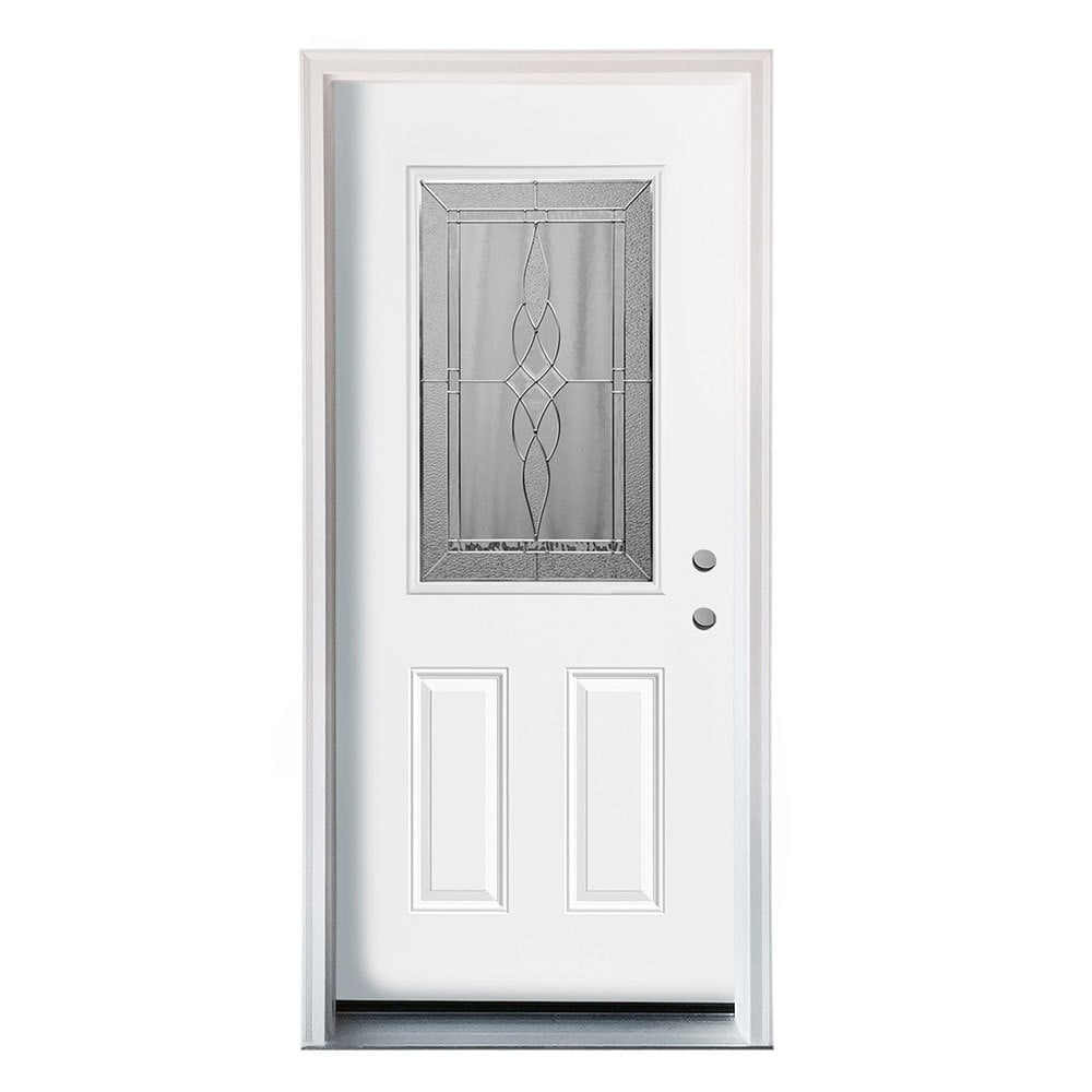 Home Doors Exterior Doors All Products White Pre-Finished Left Hand ...