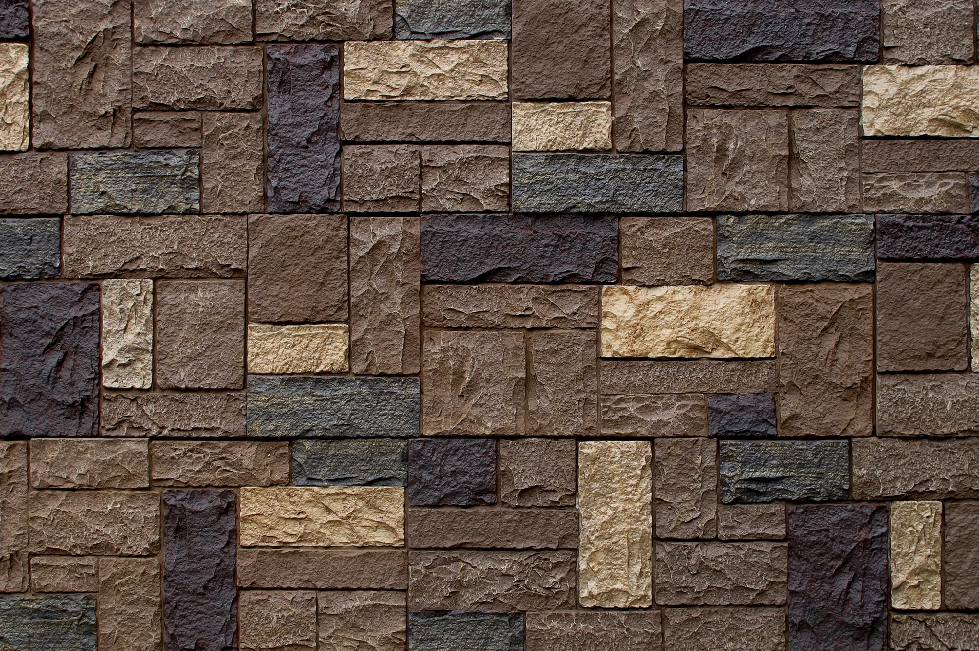 StoneWorks Faux Stone Siding Castle Rock Cottage Brown Panel 43 1 4