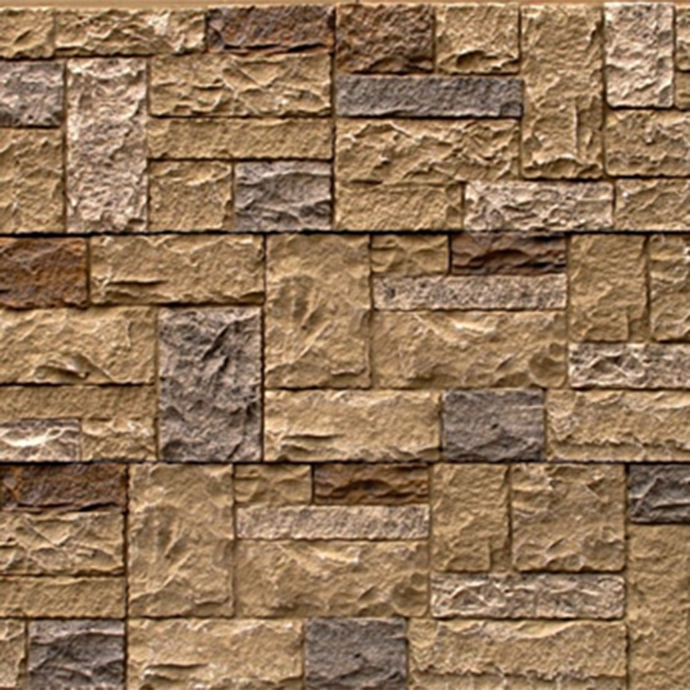 Free samples stoneworks faux stone siding castle rock for Stone facade siding