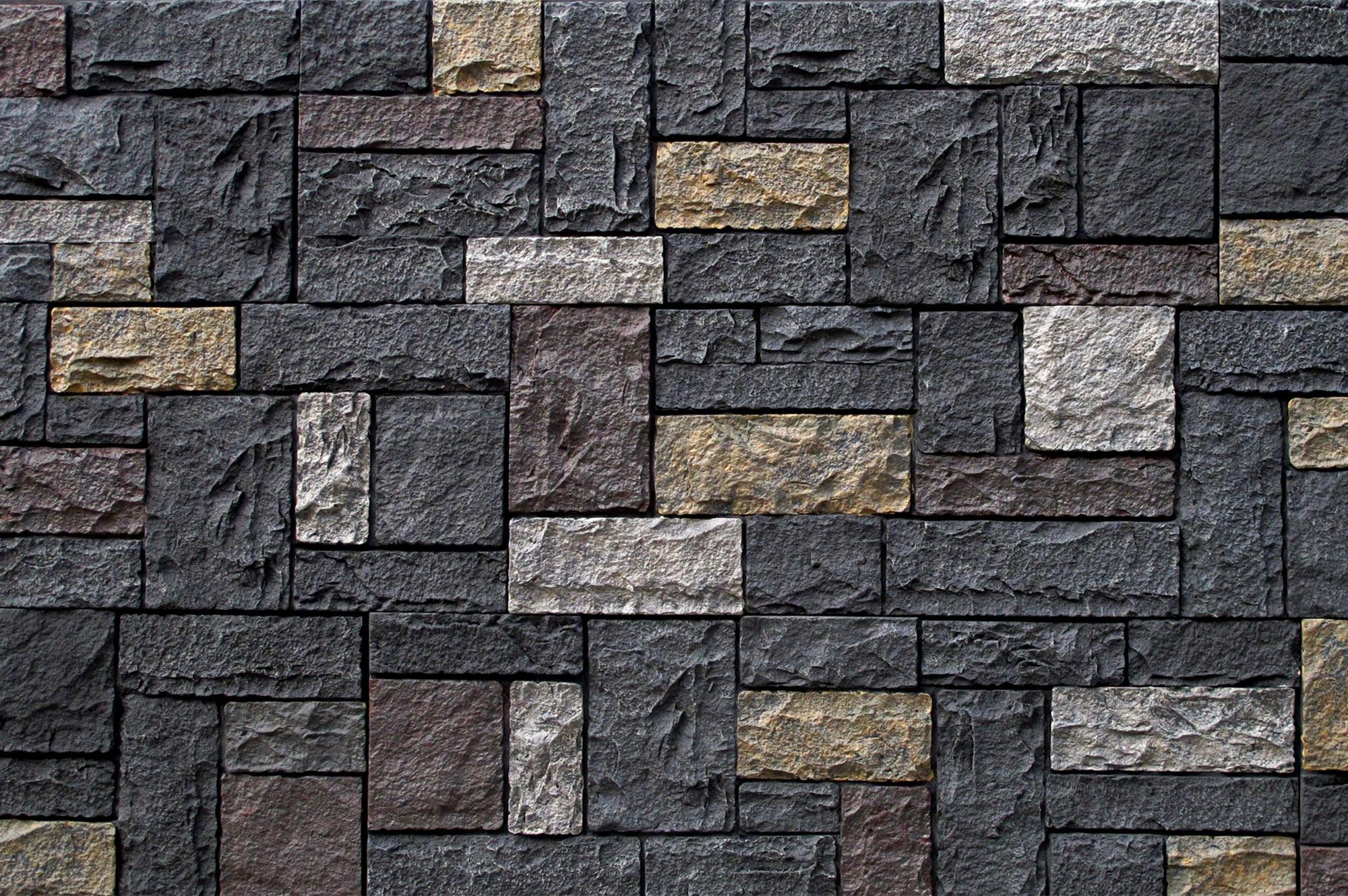 StoneWorks Faux Stone Siding Castle Rock Kent Charcoal Panel 43 1 4