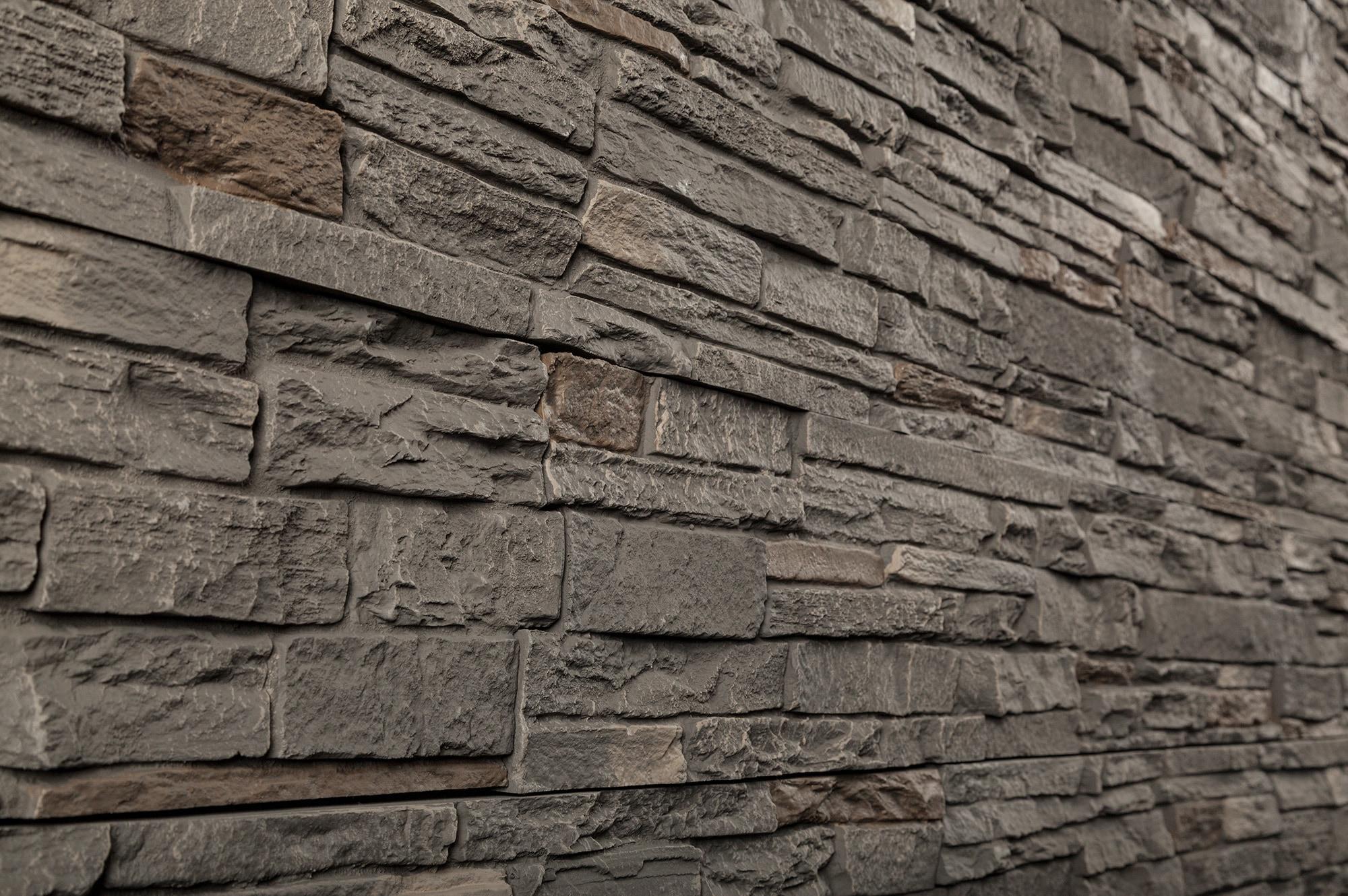 Stoneworks Faux Stone Siding Slate Stone Smoky Ridge