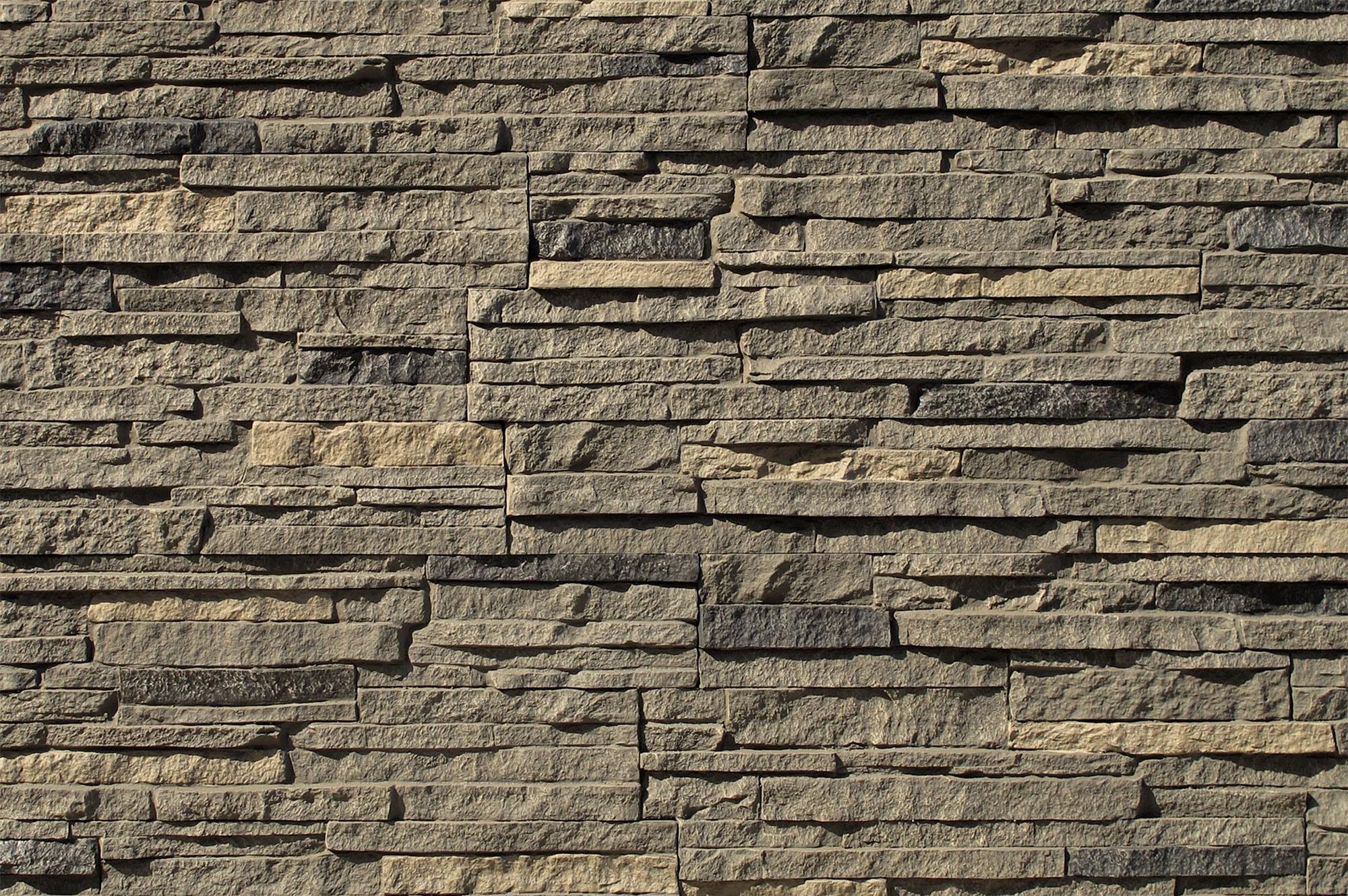 Stoneworks Faux Stone Siding Stacked Stone Volcanic Gray