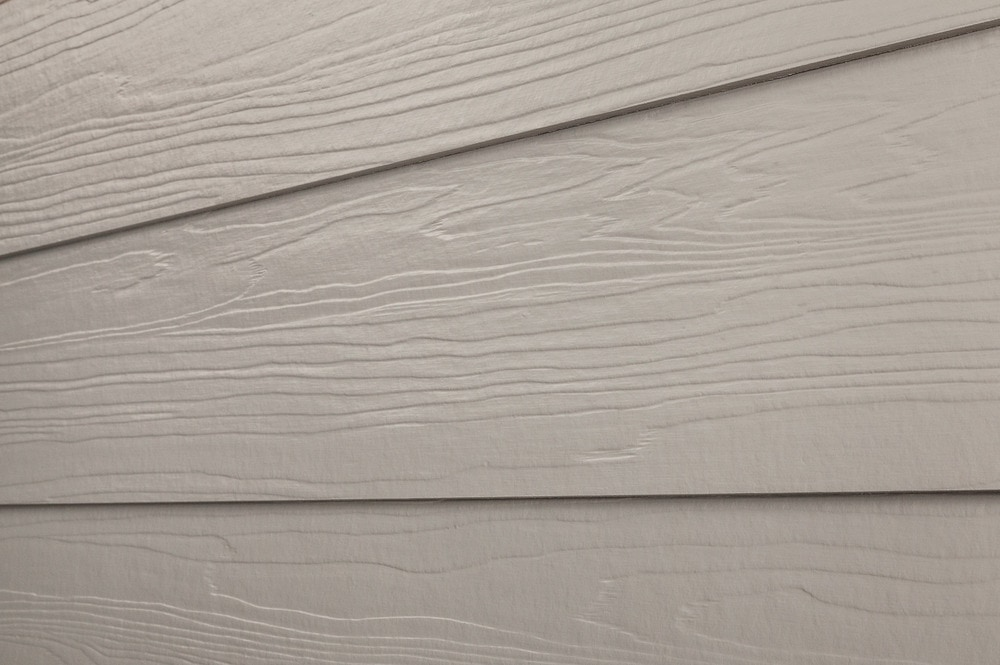 Cerber fiber cement siding premium 2 coat solid pelican for Wood grain siding panels