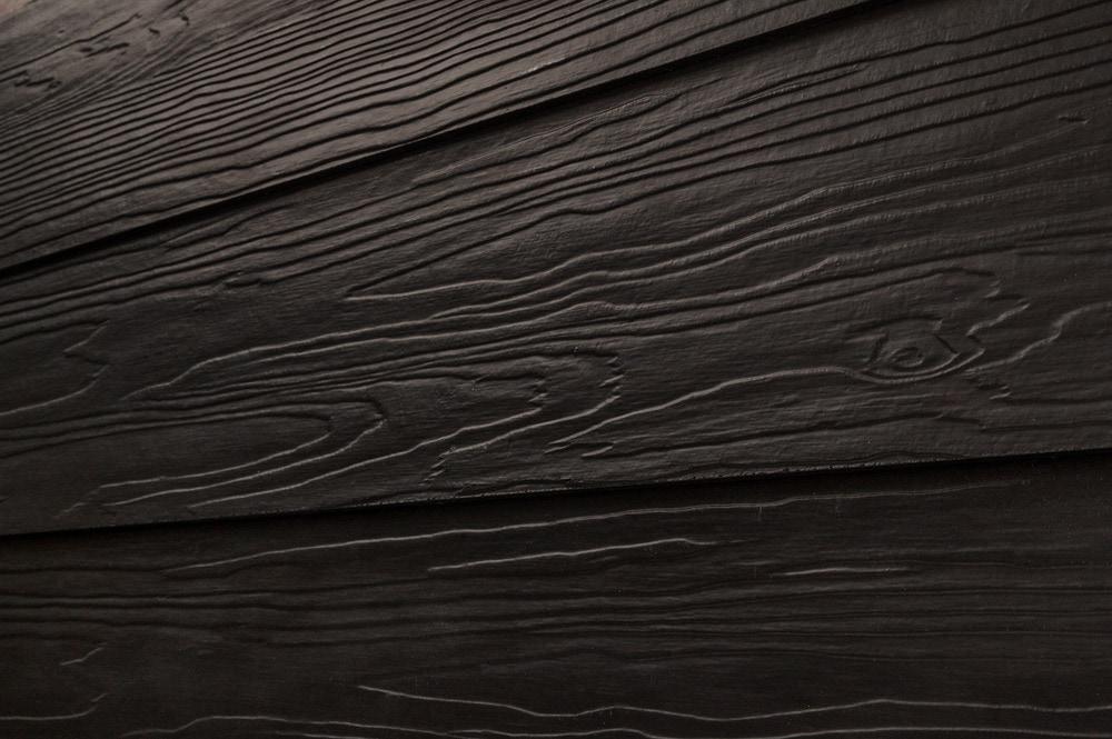 Cerber fiber cement siding premium 2 coat solid black for Stained fiber cement siding