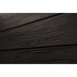 Cerber fiber cement siding premium 2 coat solid black for Wood grain siding panels