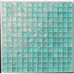 "Tiles & Deco AQUAMARINE 1"" X 1"" GLASS MOSAIC POOL Model 151363231 Kitchen Glass Mosaics"